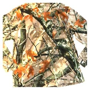 Men's Camo Lomg Sleeve Shirt Size Large